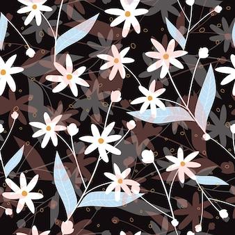 Resumo pouco padrão de superfície floral