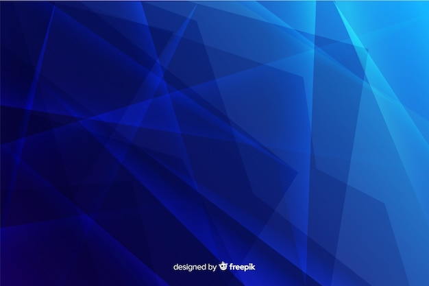 Resumo quebrado fundo de vidro azul gradiente Vetor grátis