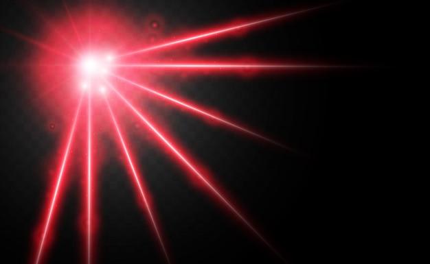 Resumo raio laser. transparente isolado no fundo preto. ilustração.