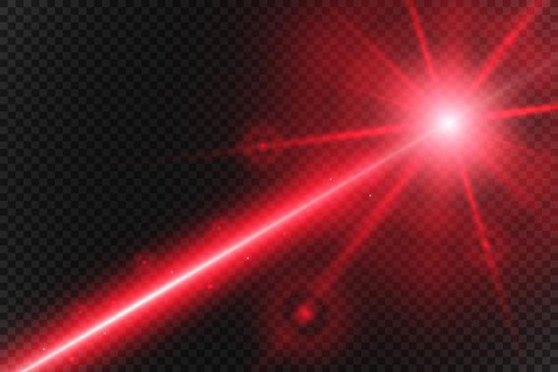 Resumo raio laser. transparente isolado no fundo preto.
