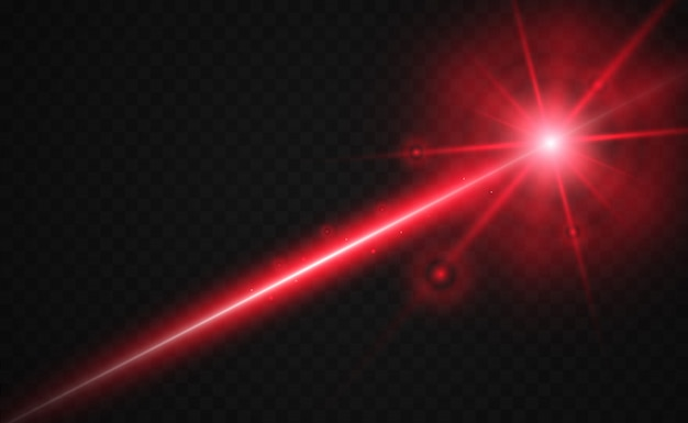 Resumo raio laser. transparente isolado.