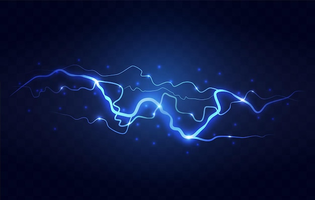 Resumo relâmpago azul sobre fundo preto. blitz lightning thunder light sparks tempestade flash trovoada. poder energia carga thunder shock