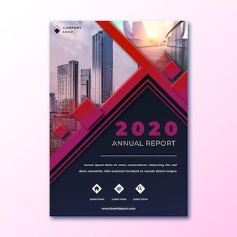 Resumo relatório anual com modelo de imagem