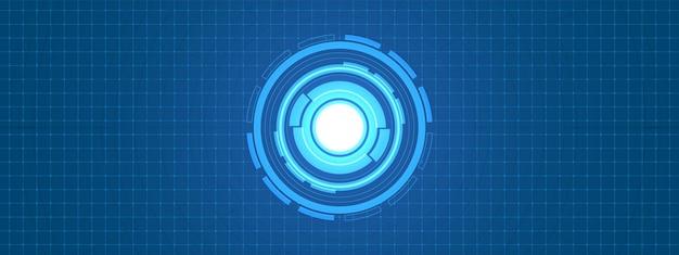 Resumo sobreposição de fundo digital de círculo, tecnologia de lente inteligente com efeito de luz
