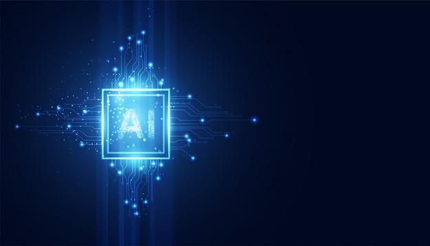 Resumo tecnologia ai computação conceito trabalhando dados futurista