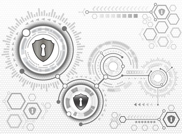 Resumo tecnologia de fundo do sistema de segurança cibernética