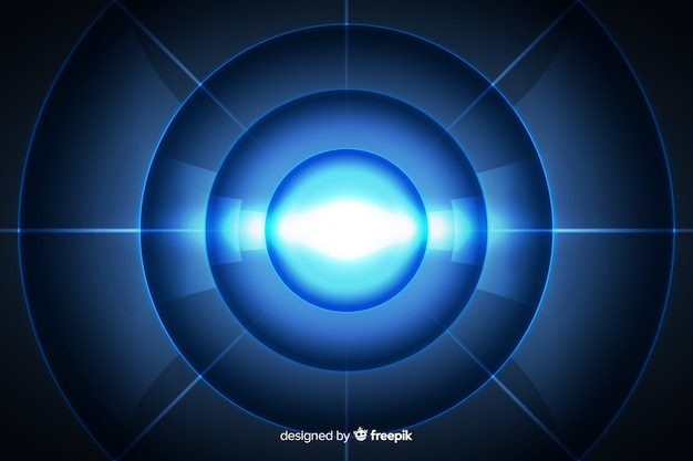 Resumo tecnológico túnel de luz de fundo