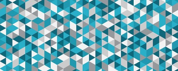Resumo tosca padrão de triângulo verde azul