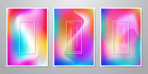 Resumo trendy gradient shapes fundos holográficos