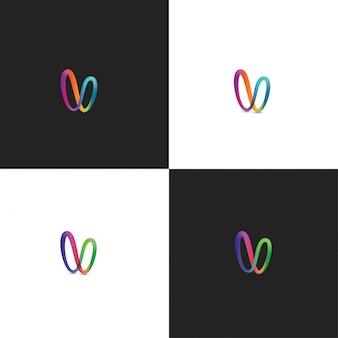 Resumo v logo colorful design