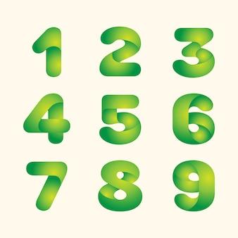 Resumo verde deixa eco fonte conjunto de números