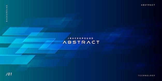 Resumo virtual tons de azul tecnologia fundo