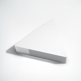 Retângulo geométrico 3d