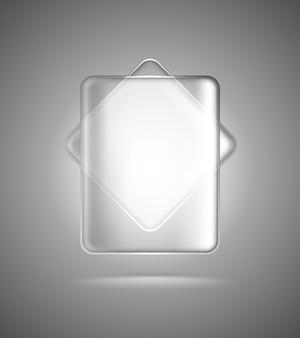 Retângulos de vidro transparente
