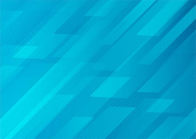 Retângulos translúcidos abstratos com fundo de cor gradiente azul com efeito de meio-tom.