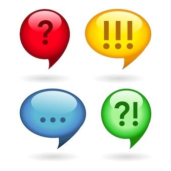 Reticências, exclamação, pontos de interrogação