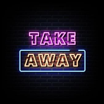 Retire o texto do estilo das placas de néon