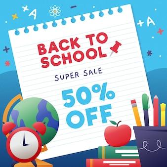 Retornado às vendas da escola