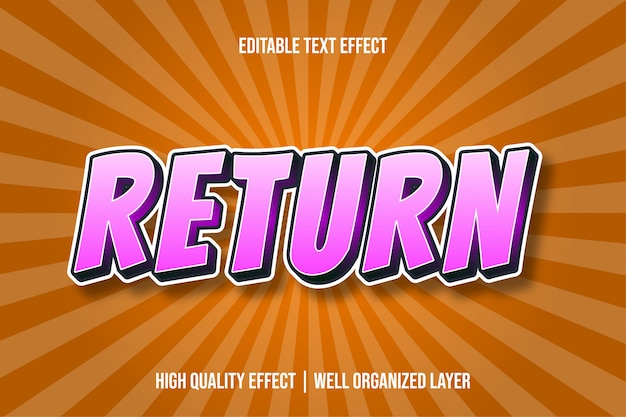 Retornar efeito de texto estilo cômico pinky s