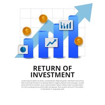 Retorno do investimento roi financiamento crescimento sucesso negócio