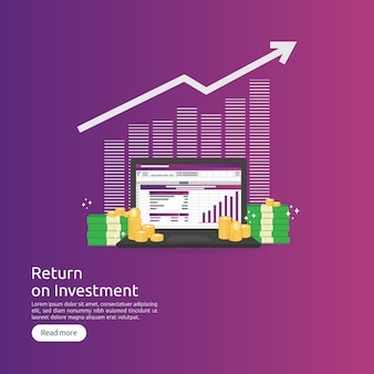 Retorno sobre o investimento roi e conceito analítico de dados seo