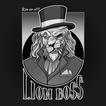 Retrato de aristocrata de leão