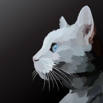 Retrato de arte pop com estampa de animal