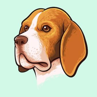 Retrato de cachorro beagle