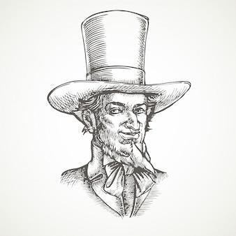 Retrato de cavalheiros. vintage