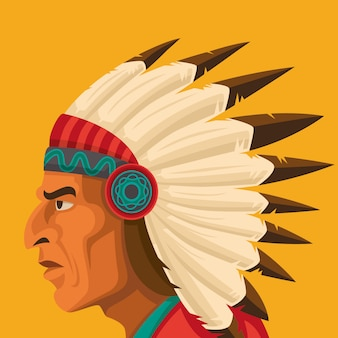 Retrato de chefe indiano