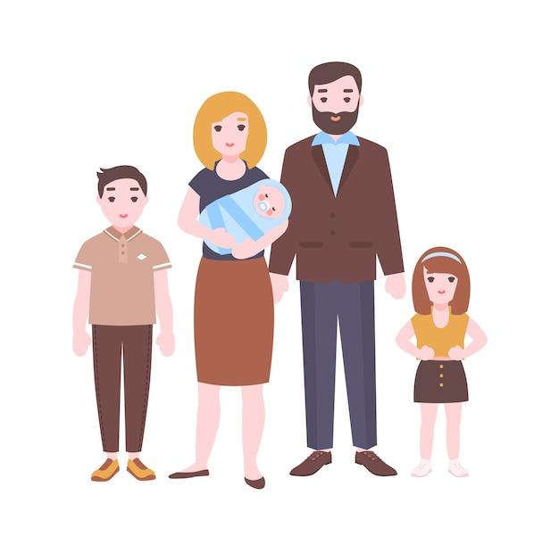 Retrato de família feliz