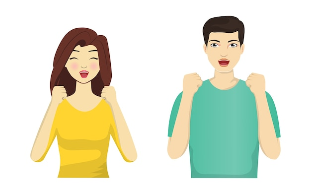 Retrato de homem e mulher felizes