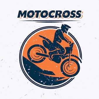 Retrato de motociclista. ilustração em vetor plana