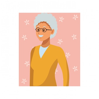 Retrato de mulher velha