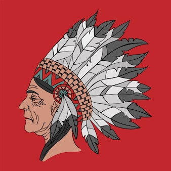 Retrato de nativo americano mulher indiana