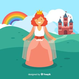 Retrato de princesa plana