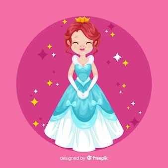 Retrato de princesa sorridente