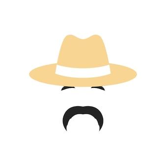 Retrato de um agricultor com um chapéu