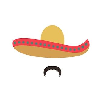 Retrato de um mexicano usando sombrero
