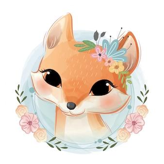 Retrato foxy bonito