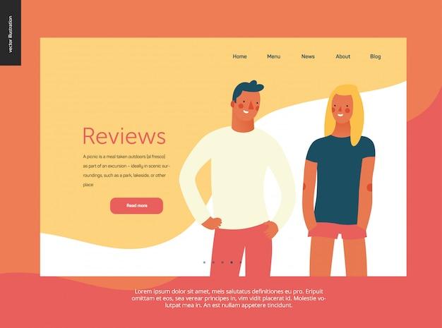 Retratos de pessoas brilhantes - modelo de site
