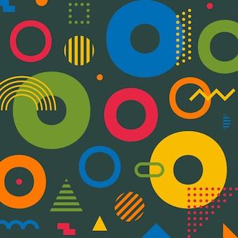 Retrô abstrato geométrico padrão sem emenda.