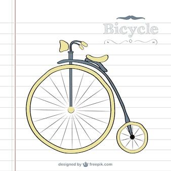 Retro bicicleta do vetor do doodle