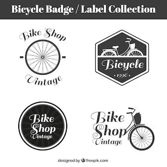 Retro bicicletas emblemas e etiquetas