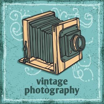 Retro, câmera, ilustração