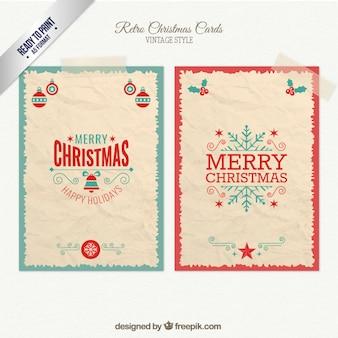 Retro cartões de natal pacote