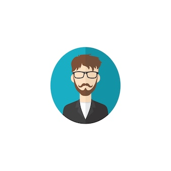 Retro cavalheiro avatar retrato retrato imagem ícone