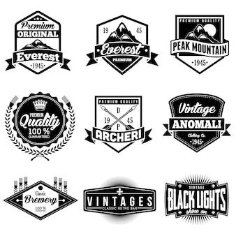 Retro Classic Badges Logo Emblem