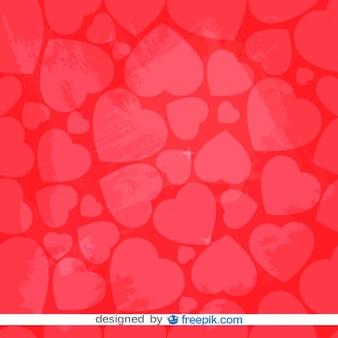 Retro coração vermelho fundo