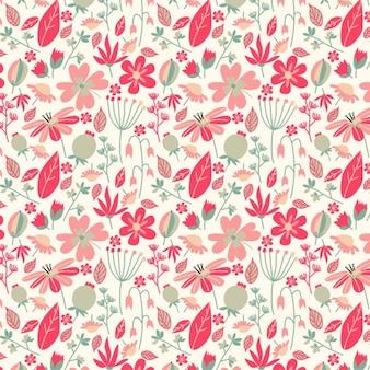 Retro cores padrão floral